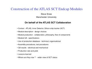 Construction of the ATLAS SCT Endcap Modules