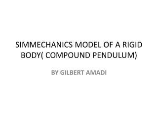 SIMMECHANICS MODEL OF A RIGID BODY( COMPOUND PENDULUM)