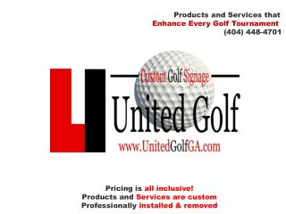 Products and Services that Enhance Every Golf Tournament