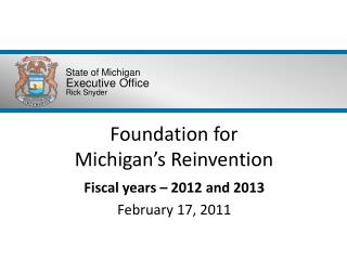Foundation for  Michigan's Reinvention