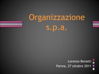 Organizzazione s.p.a.