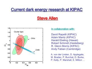 Current dark energy research at KIPAC