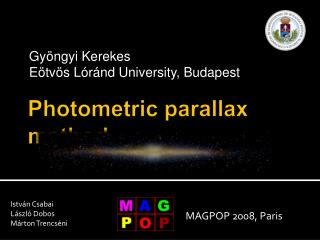 Photometric parallax method