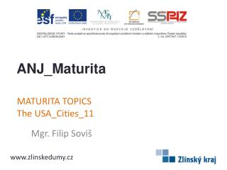 MATURITA TOPICS TheUSA_Cities_11
