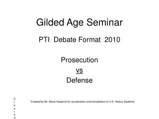 Gilded Age Seminar