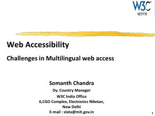 Web Accessibility Challenges in Multilingual web access