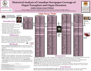 Historical Analysis  of Canadian Newspaper Coverage of Organ Transplant and Organ Donation