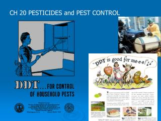 CH 20 PESTICIDES and PEST CONTROL