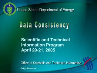 Scientific and Technical  Information Program  April 20-21, 2005