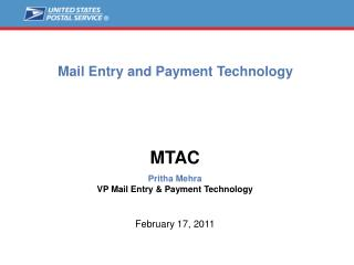 Mail Entry and Payment Technology