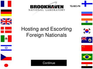 Hosting and Escorting Foreign Nationals