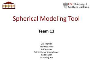 Spherical Modeling Tool