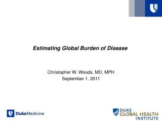 Estimating Global Burden of Disease