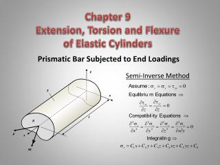 Chapter 9   Extension, Torsion and Flexure  of Elastic Cylinders
