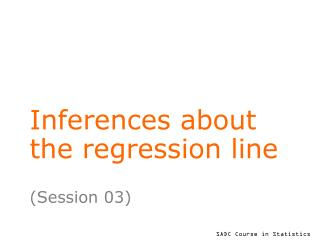Inferences about the regression line