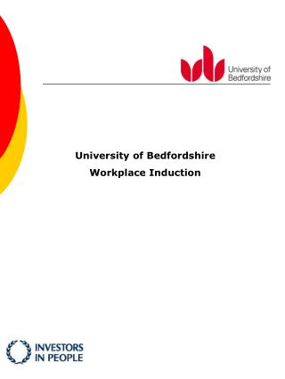 University of Bedfordshire Workplace Induction