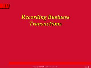 Recording Business Transactions
