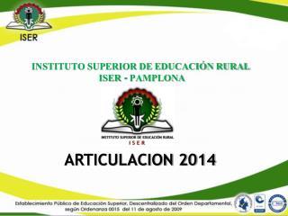 ARTICULACION 2014