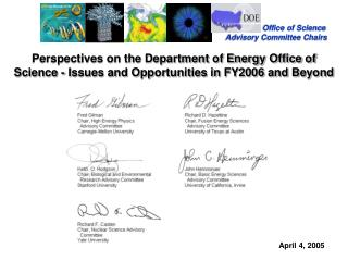 Office of Science Advisory Committee Chairs