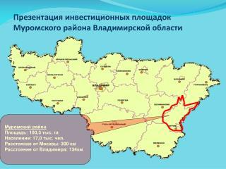 Презентация инвестиционных площадок Муромского района Владимирской области