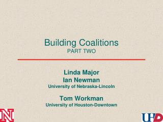 Building Coalitions PART TWO