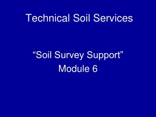 Technical Soil Services