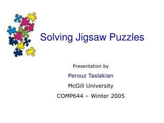 Solving Jigsaw Puzzles