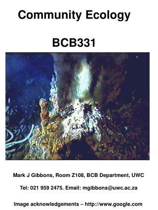 Community Ecology BCB331