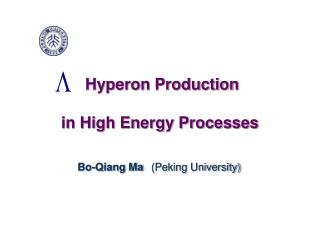 Hyperon Production  in High Energy Processes