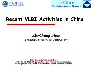 Recent VLBI Activities in China