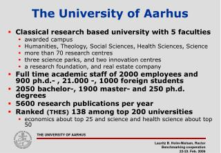 The University of Aarhus