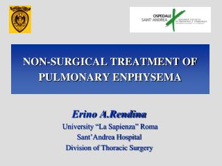 NON-SURGICAL TREATMENT OF PULMONARY ENPHYSEMA