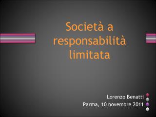 Società a responsabilità limitata