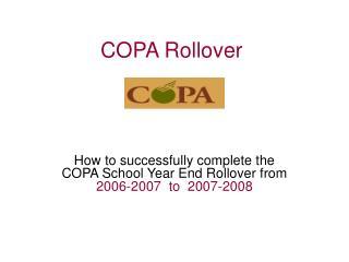 COPA Rollover