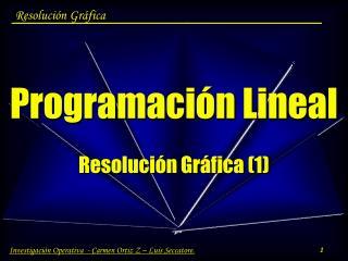 Programación Lineal Resolución Gráfica (1)