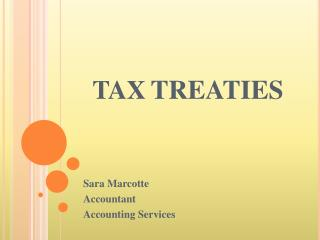 TAX TREATIES