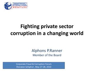 Fighting private sector corruption in a changing world