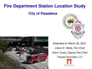 Fire Department Station Location Study