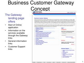 Business Customer Gateway Concept