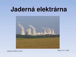 Jadern  elektr rna