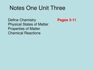 Define Chemistry Physical States of Matter Properties of Matter Chemical Reactions