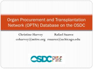 Organ Procurement and Transplantation Network (OPTN) Database on the OSDC