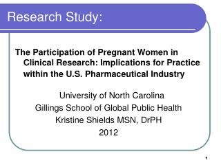 Research Study: