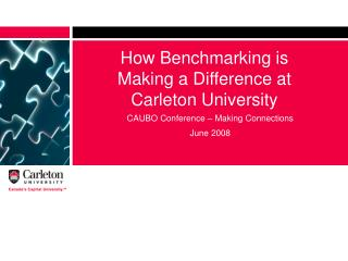 How Benchmarking is Making a Difference at Carleton University