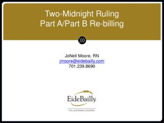 Two-Midnight Ruling Part A/Part B Re-billing