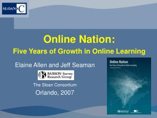 Online Nation: Five Years of Growth in Online Learning