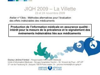 Atelier n°13bis : Méthodes alternatives pour l'évaluation des effets indésirables des médicaments