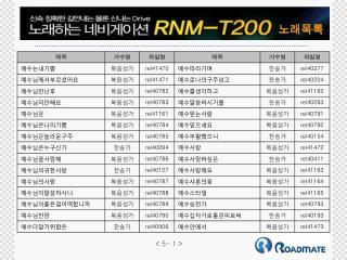 RNM-T200 노래목록5(1-50)