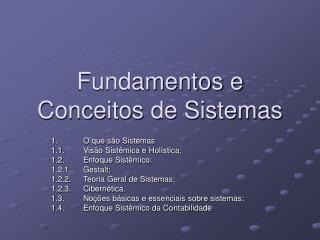 Fundamentos e Conceitos de Sistemas