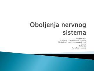 Oboljenja nervnog sistema